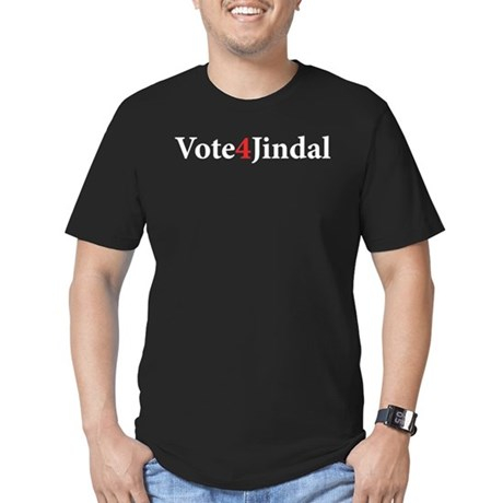 Vote 4 Jindal Men's Fitted T-Shirt (dark)