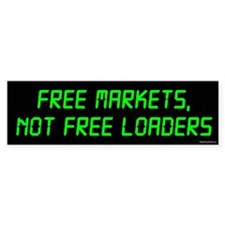 Free Markets Bumper Sticker (10 pk)