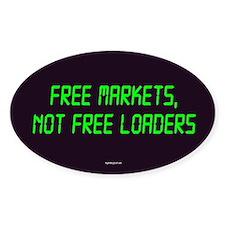 Free Markets Oval Sticker (10 pk)