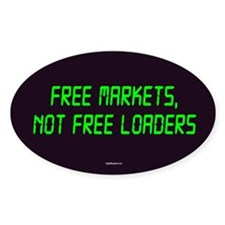 Free Markets Oval Sticker (50 pk)