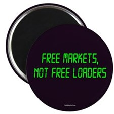 "Free Markets 2.25"" Magnet (100 pack)"