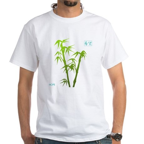 Bamboo Hope White T-Shirt