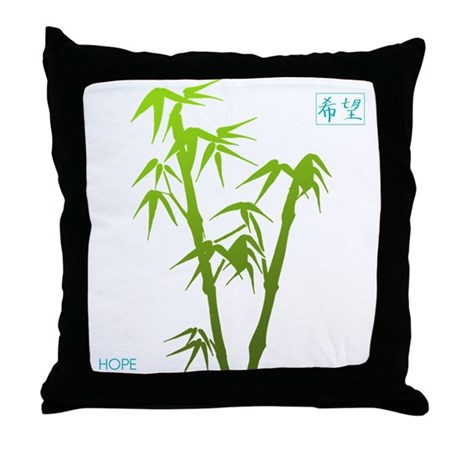 Bamboo Hope Throw Pillow