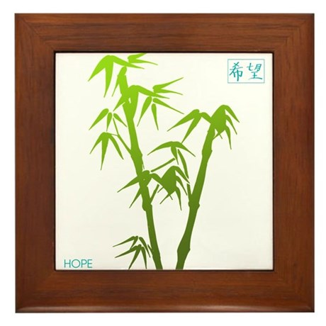 Bamboo Hope Framed Tile