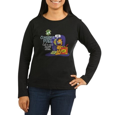 Conserve Fuel Women's Long Sleeve Dark T-Shirt