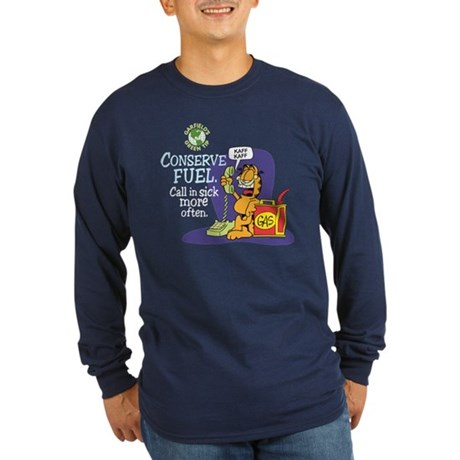Conserve Fuel Long Sleeve Dark T-Shirt