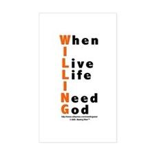 WILLING Rectangle Decal
