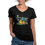 Conserve Energy Women's V-Neck Dark T-Shirt