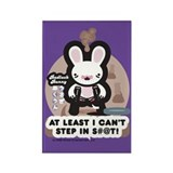 Bad Luck Bunny Rectangle Magnet