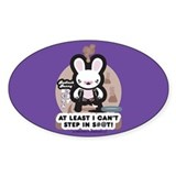 Bad Luck Bunny Oval Decal