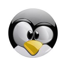 """Unique Penguin 3.5"""" Button"""