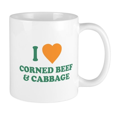 I Love Corned Beef & Cabbage Mug