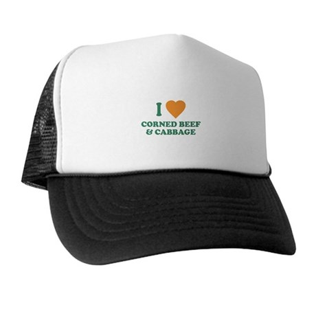 I Love Corned Beef & Cabbage Trucker Hat