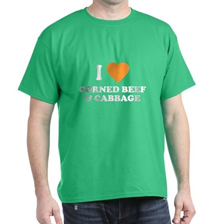 I Love Corned Beef & Cabbage T-Shirt