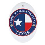 Texas Flag OES Oval Ornament