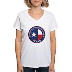 Texas Flag OES Women's V-Neck T-Shirt