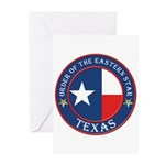 Texas Flag OES Greeting Cards (Pk of 10)