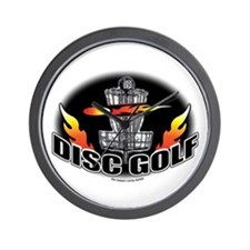 Flammin Disc Golf Wall Clock