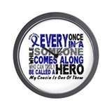 HERO Comes Along 1 Cousin CC Wall Clock