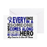 HERO Comes Along 1 Cousin CC Greeting Card