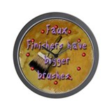 """Faux Finishers Have Bigger B Wall Clock"