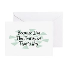 Because Therapist Greeting Cards (Pk of 20)