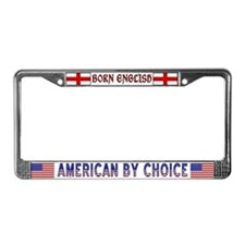 Born English License Plate Frame