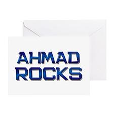 ahmad rocks Greeting Card