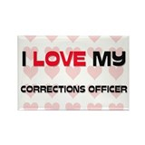 I Love My Corrections Officer Rectangle Magnet (10