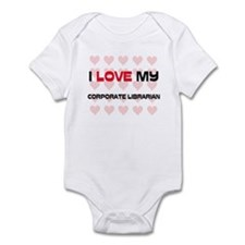 I Love My Corporate Librarian Infant Bodysuit