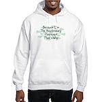 Because Respiratory Therapist Hooded Sweatshirt