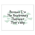 Because Respiratory Therapist Small Poster