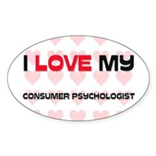 I Love My Consumer Psychologist Oval Decal