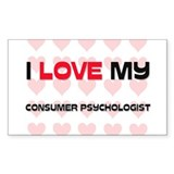 I Love My Consumer Psychologist Decal