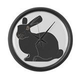 Death Bunny Large Wall Clock