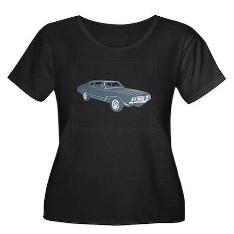 1970 Oldsmobile 442 Women's Plus Size Scoop Neck D