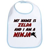 my name is zelda and i am a ninja Bib
