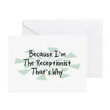 Because Receptionist Greeting Cards (Pk of 20)