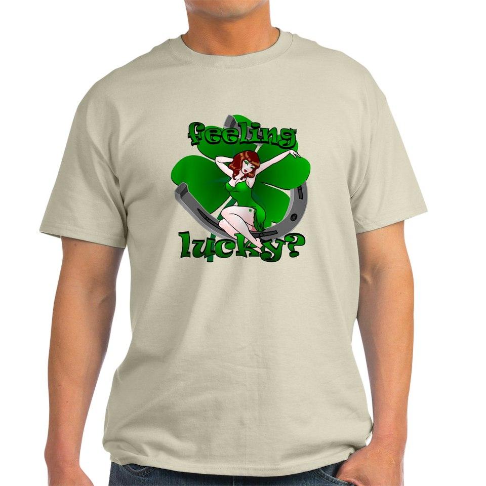 Sexy Irish Pinup Girl T Shirt Lucky Mens Tee by st_patricks_