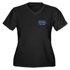 Because Pool Player Women's Plus Size V-Neck Dark