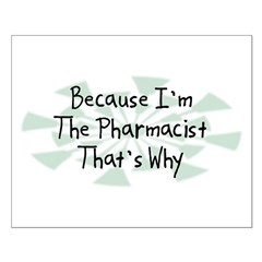 Because Pharmacist Small Poster