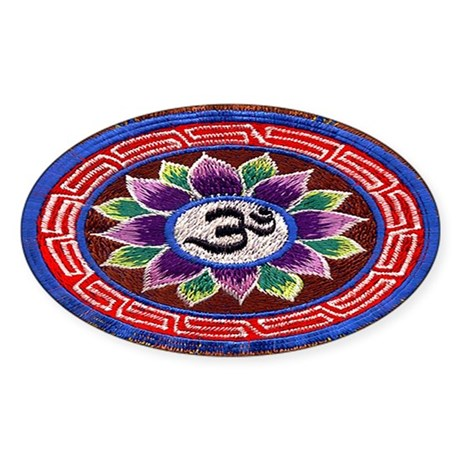 OM Tapestry Oval Sticker
