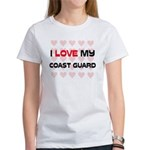 I Love My Coast Guard Women's T-Shirt