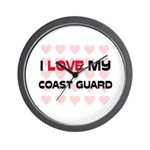 I Love My Coast Guard Wall Clock