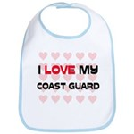 I Love My Coast Guard Bib