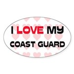 I Love My Coast Guard Oval Sticker