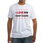 I Love My Coast Guard Fitted T-Shirt