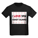 I Love My Coast Guard Kids Dark T-Shirt