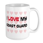 I Love My Coast Guard Large Mug