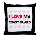 I Love My Coast Guard Throw Pillow